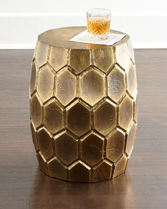 Now, This Has My Name, Allllll Over It ; Melisande Honeycomb Garden Stool  At Horchow.
