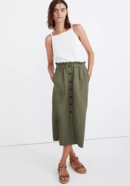 Remi Coral Midi Skirt | Casual skirt outfits, Midi skirt