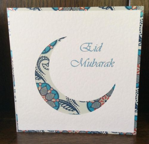 Handmade Eid Mubarak Greeting Card With Images Eid Mubarak
