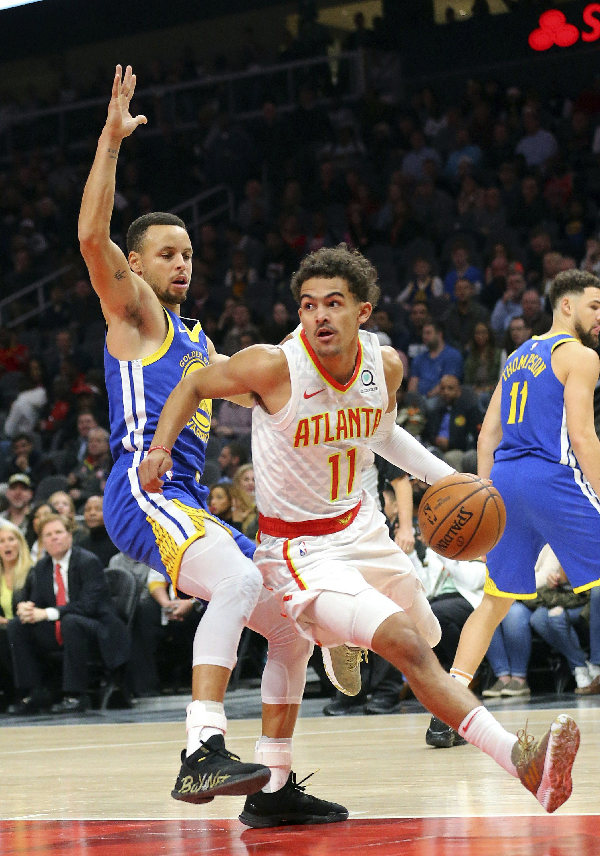 Trae Young Stephen Curry Warriors Stephen Curry Nba