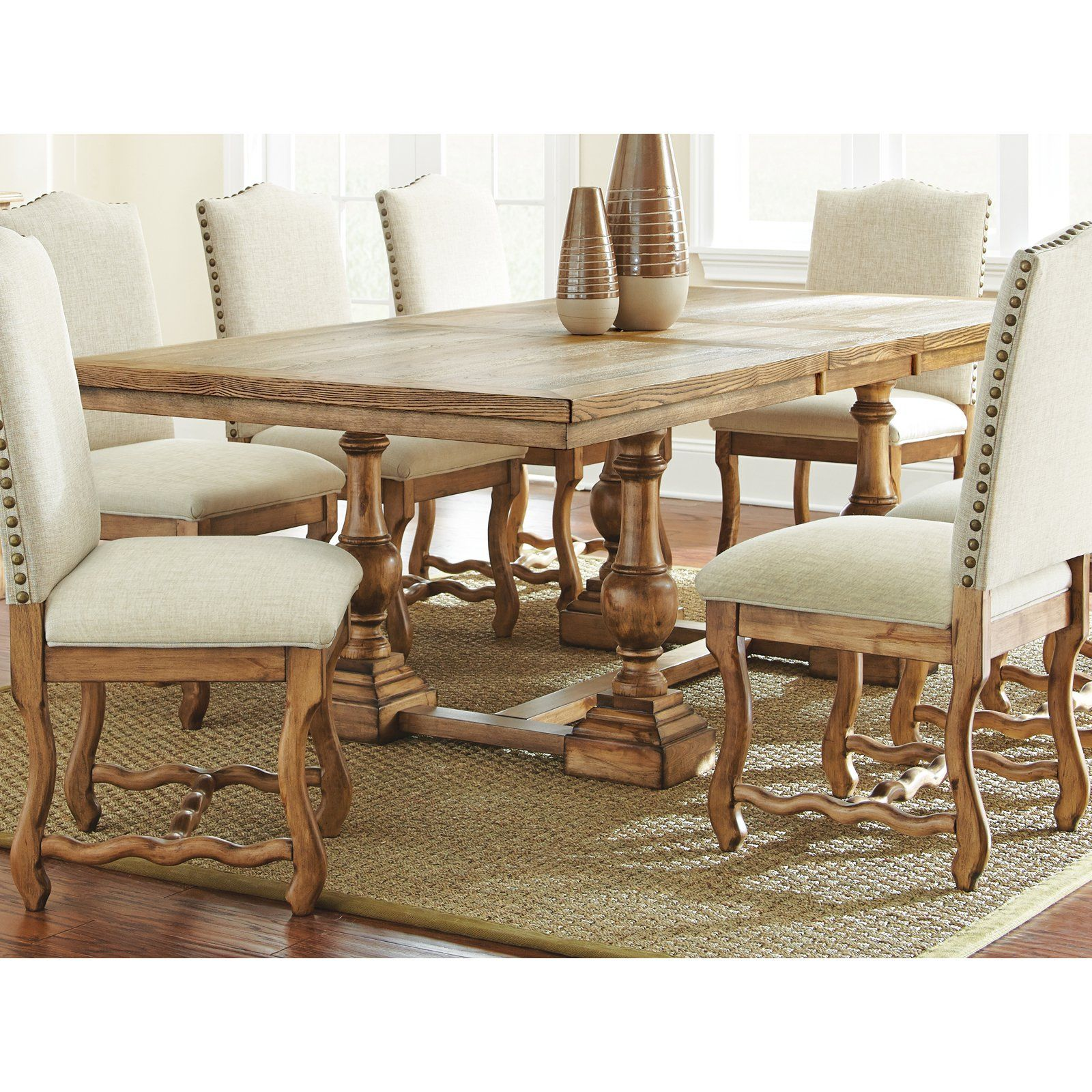 Steve Silver Plymouth Dining Table Oiled Oak Bring Bold Style Home For Dinner With