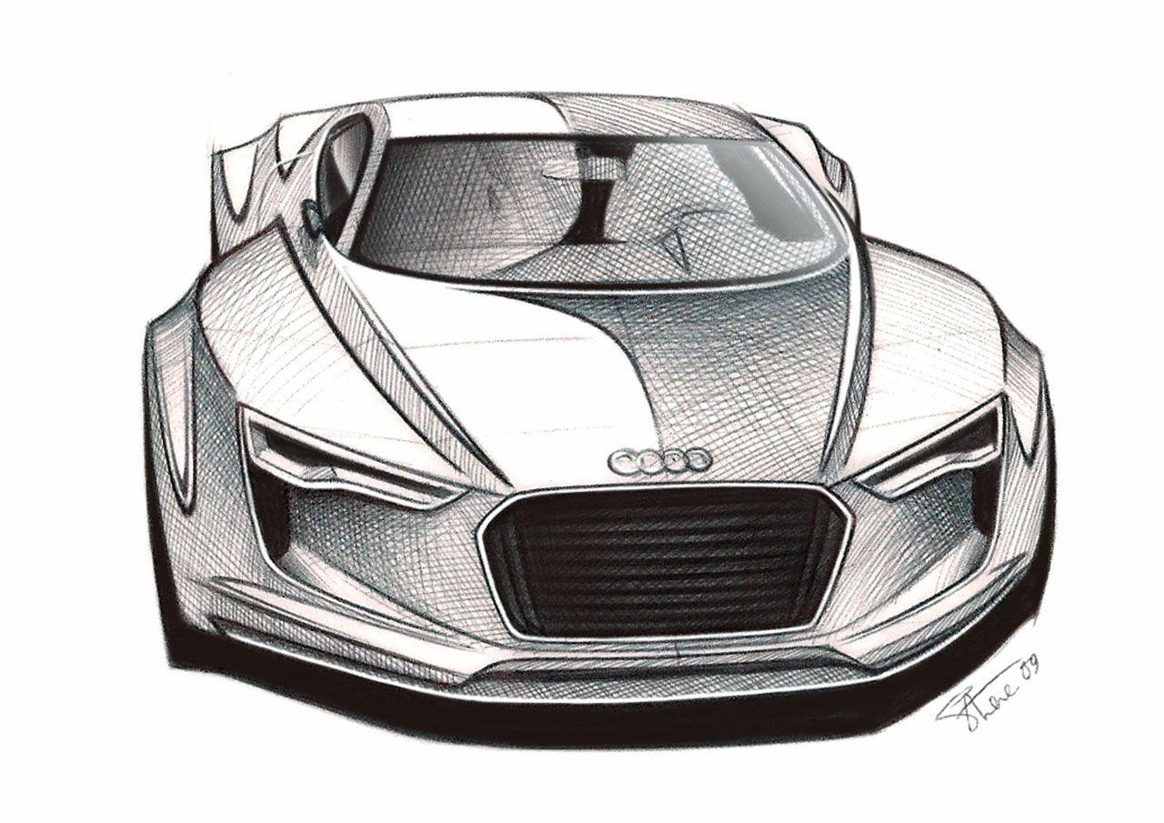 Audi E Tron Detroit Concept Sketch Car Design Car Design Sketch Car Sketch