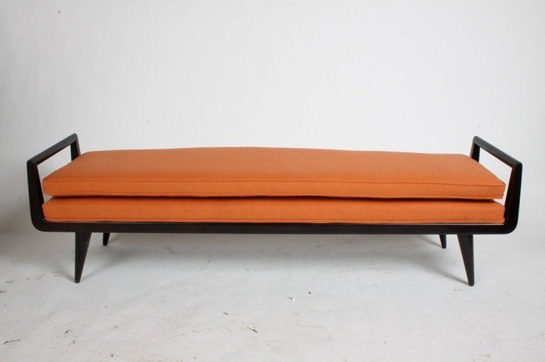 Mid Century Modern Mahogany Bench With Burnt Orange Upholstery For Sale 2 Furniture Design Chair Mid Century Modern Style Mid Century Furniture