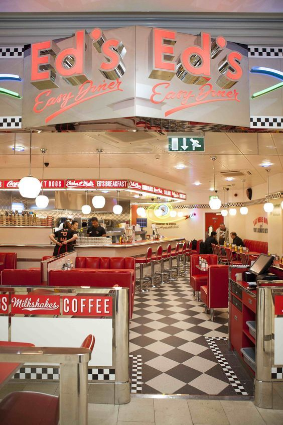 1950\'s burger diners | All-American menu at Ed\'s Diner in Highcross ...