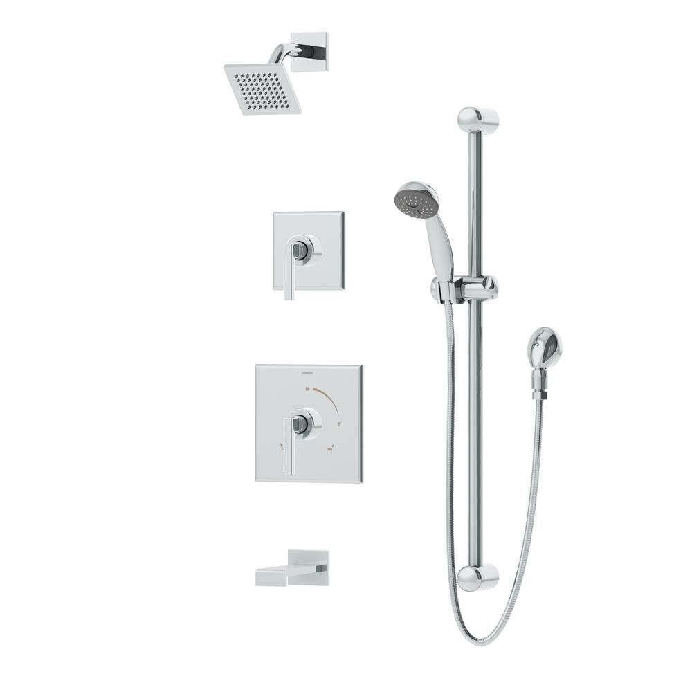Symmons Duro 2-Handle 1-Spray Tub and Shower Faucet With Handshower ...