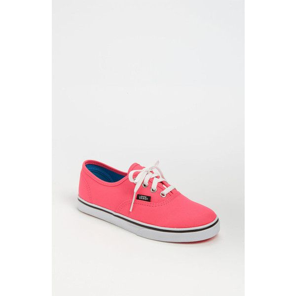 Vans 'Authentic Lo Pro' Sneaker (Toddler, Little Kid & Big Kid) Neon... ($35) ❤ liked on Polyvore