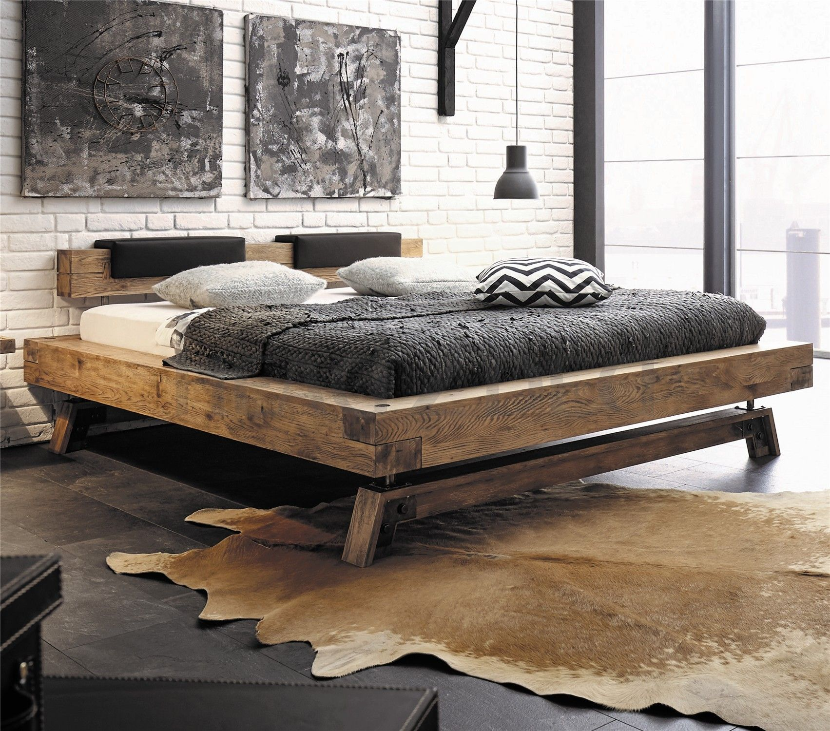Hasena Bloc Stabil Inca Nakio Character Solid Oak Bed in