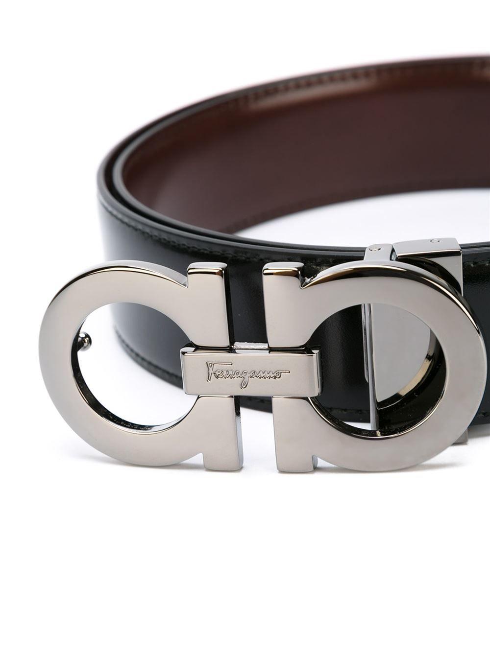 c48eaf9d788 Men s Black Gancini Buckle Belt