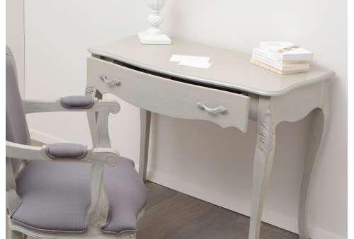 Bureau bois gris charme laurence meubles de charme chez amadeus