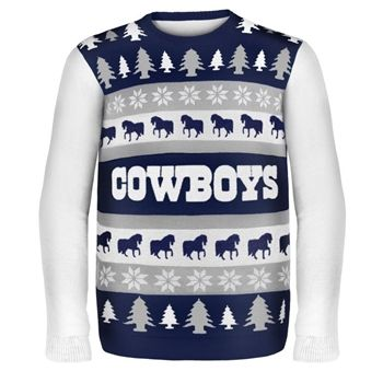 detailed look d0e58 ea9a8 Dallas Cowboys Busy Block Ugly Sweater   Sports-Themed Ugly ...
