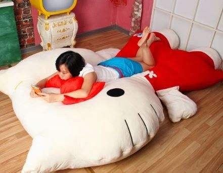 Supersize Hello Kitty Pillow Bed ce0d6b2643f23