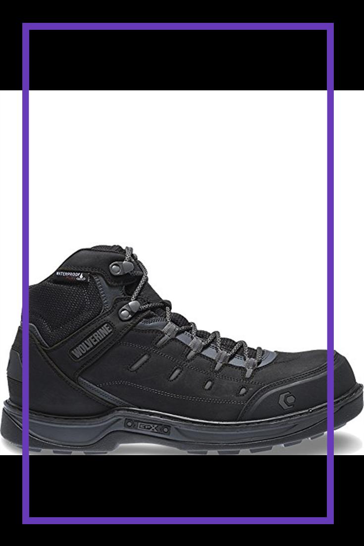ab184407729 Wolverine Men's Edge LX Nano Toe Work Boot, Black/Grey, 11.5 W US ...