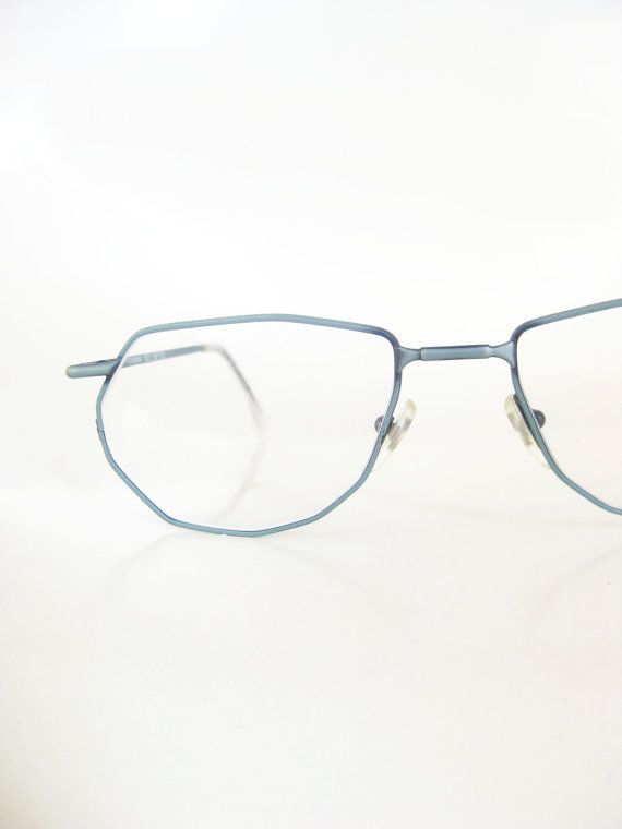 1980s dark green moss wire rim eyeglass frames reading glasses readers womens ladies new wave 80s - Wire Glasses Frames