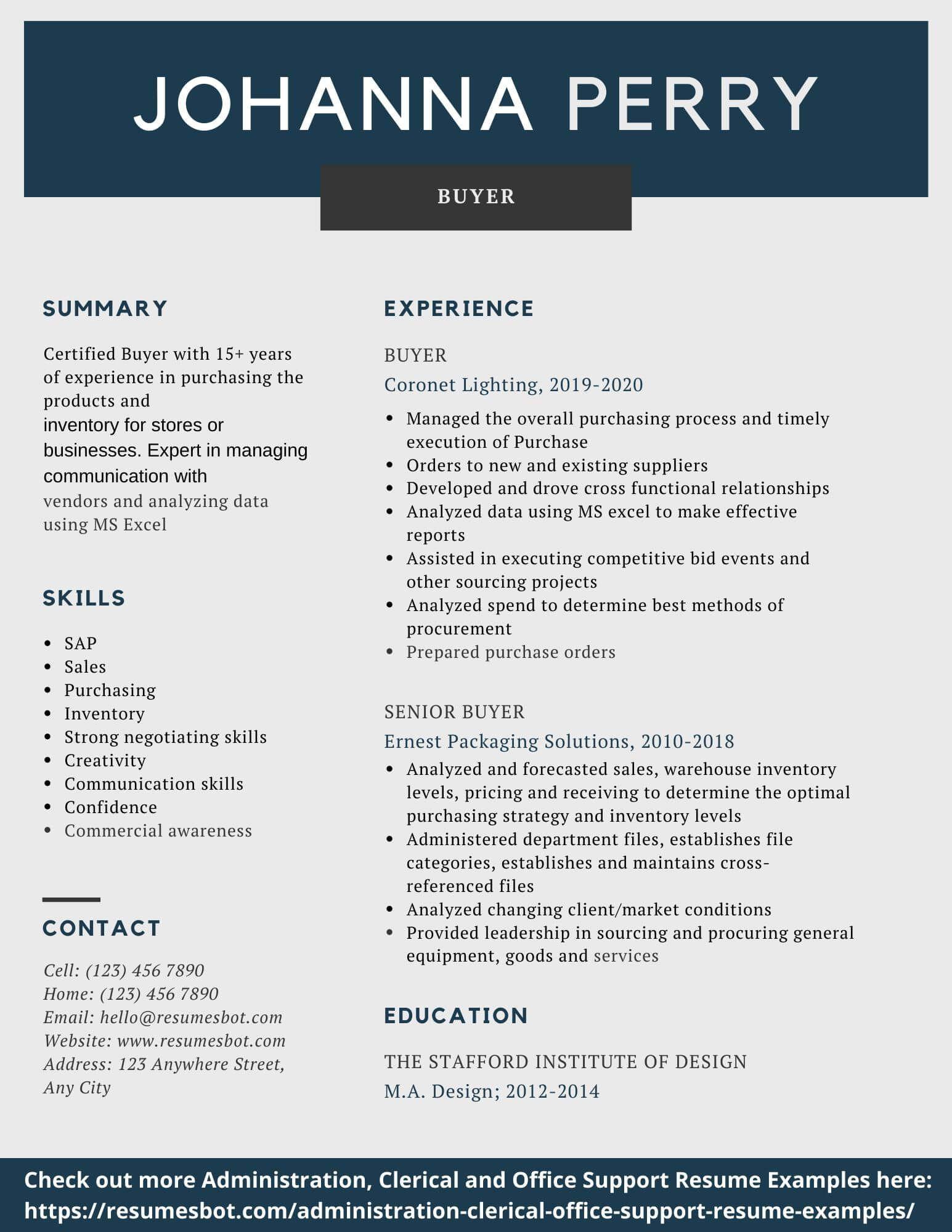 Buyer Resume Samples & Templates [PDF+DOC] 2019 Resume