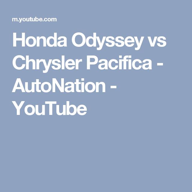 Honda Odyssey Vs Chrysler Pacifica