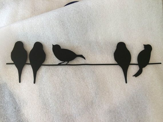 Birds On A Wire Metal Wall Art In Black Wire Wall Art Etsy Wall Art Metal Wall Art