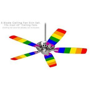 Ceiling Fan Skin Kit Fits Most 42inch Fans Rainbow Stripes