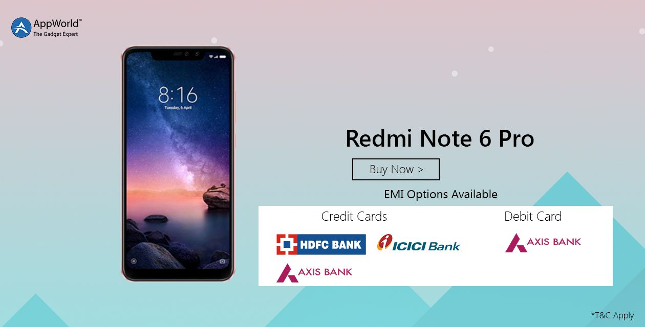 Buy #redminote6pro at AppWorld: We provide various payment