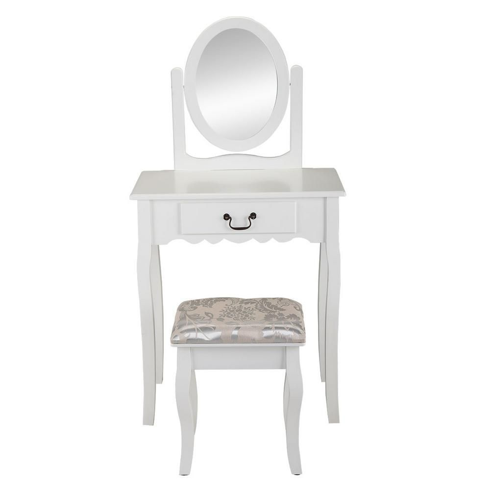 Boyel Living Dressing Table Solid Wood Dressing Table Stool White Rl61p0753 Boyel Dressi In 2020 Dressing Table With Stool Vanity Table Set Small Laptop Table
