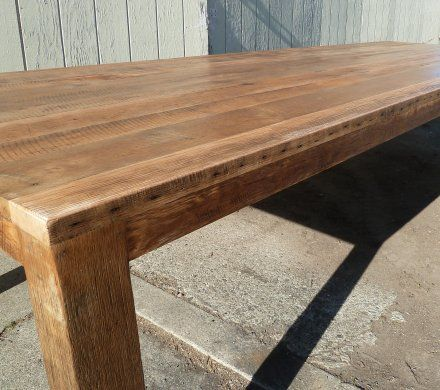 Reclaimed wood tables dining conference community for Reclaimed wood flooring san francisco