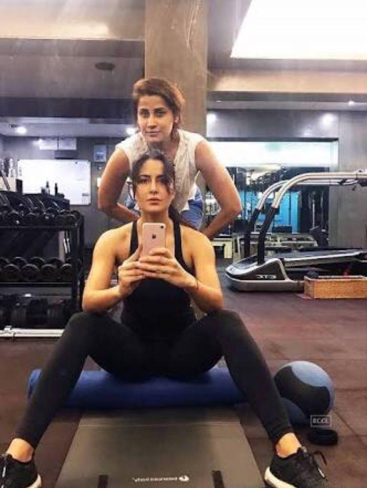 Katrina Kaif with her gym trainer | ranbir katrina | Katrina