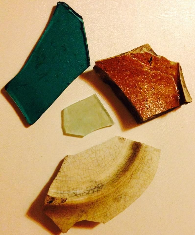 Crockery And Glass Excavated From The Side Yard Of Gregg
