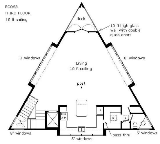 Triangular Living Floor Plan   Buscar Con Google