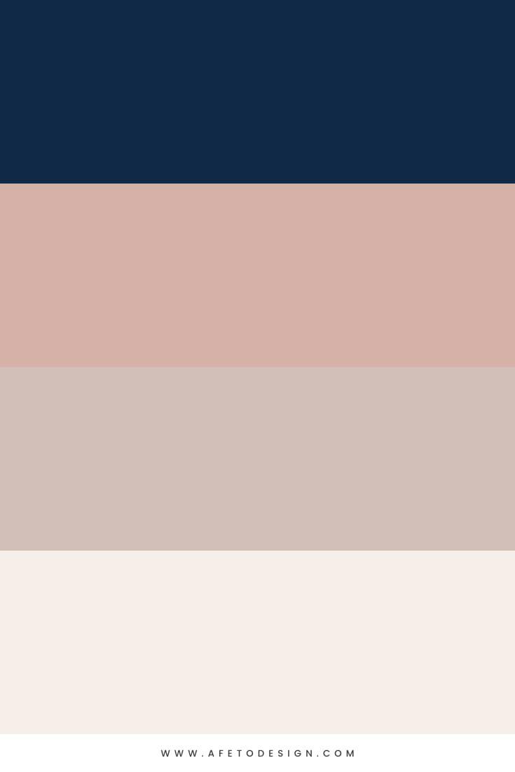 Paleta de Cores Azul Marinho e Nude