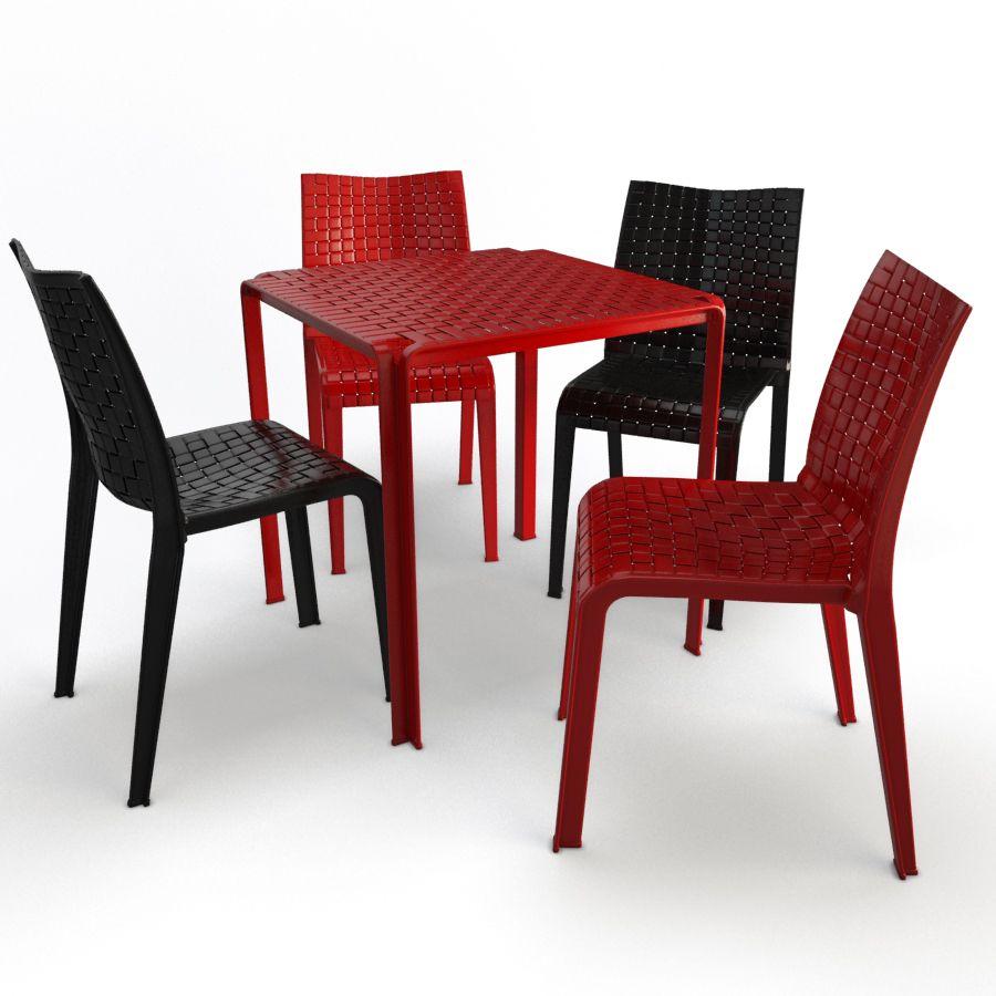 Table Et Chaises En Plastique Ami Kartell Modeles 3d Home Decor Furniture Decor