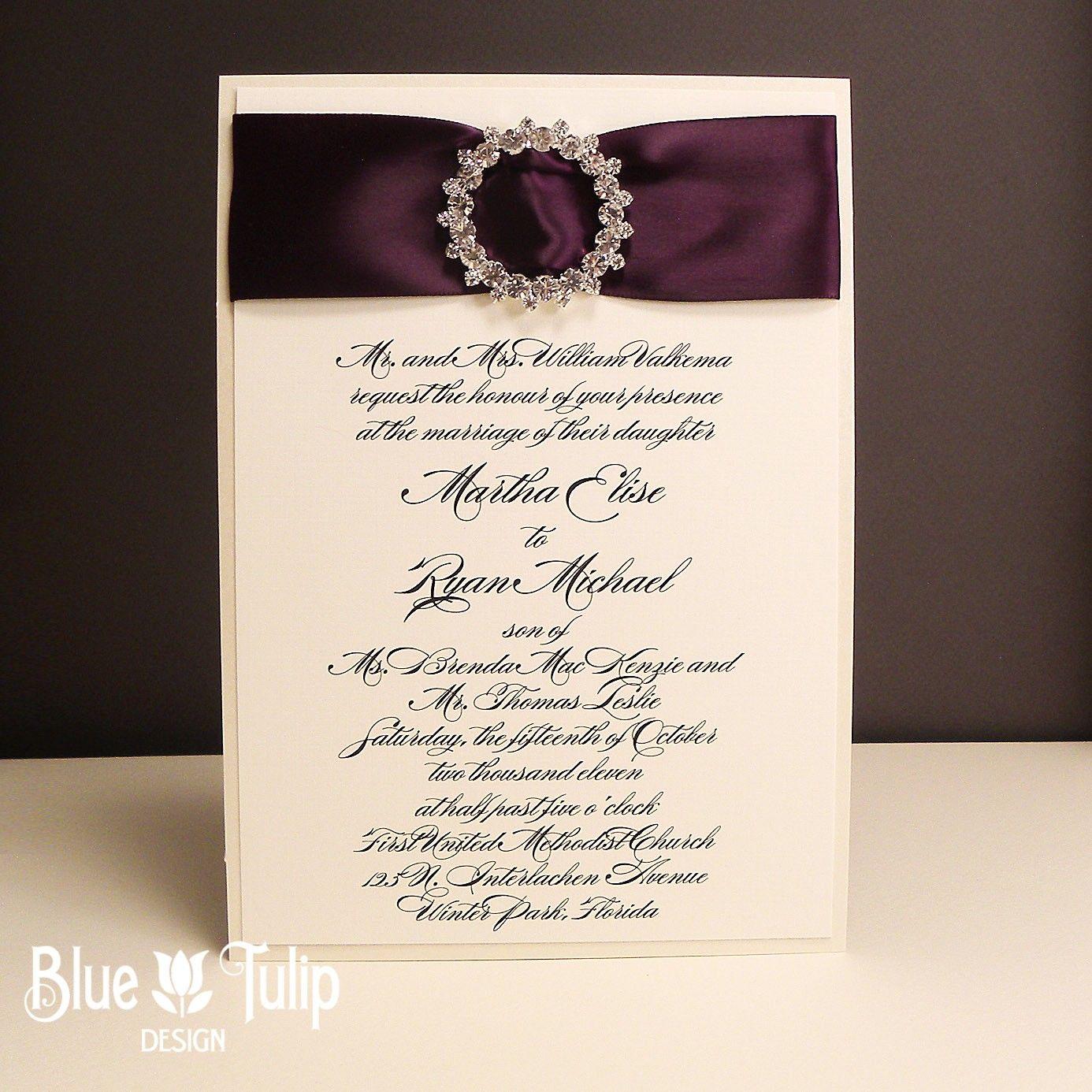 Iced Plum Wedding Invitation Plum Wedding Invitations Weddings
