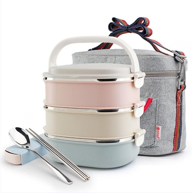 Portable Stainless Steel Japanese Bento Box Gradient Color thermos For Food With Containers Sealed Lunch Box  sc 1 st  Pinterest & Portable Stainless Steel Japanese Bento Box Gradient Color thermos ...