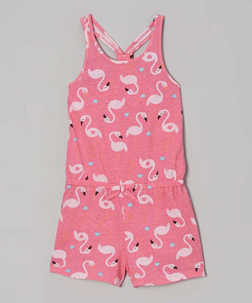 9ffbb2fb7713 Azalea Pink Flamingo Romper - Infant