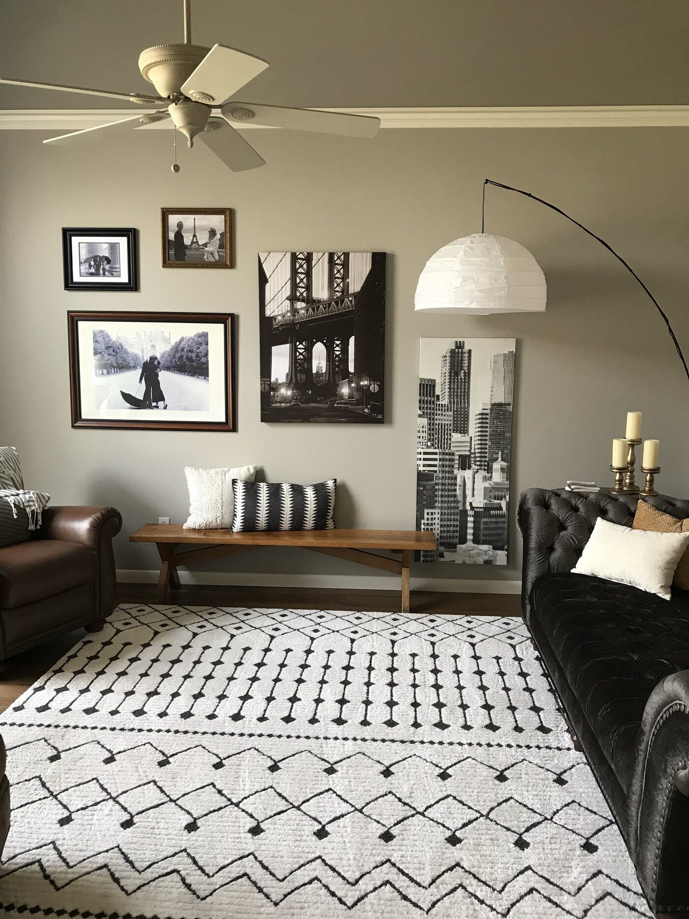 Rhodes Geometric Black Charcoal Area Rug Beige Living Rooms White Rug Living Room Black Couch Living Room #rustic #area #rugs #for #living #room