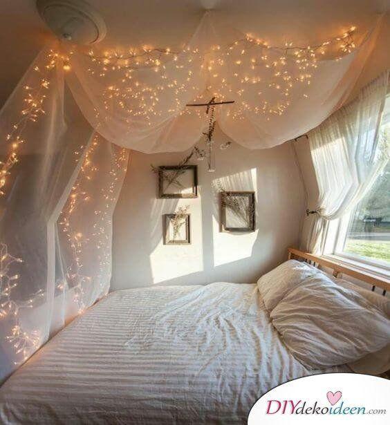 diy ideen zimmer dekorieren Schlafzimmer deko