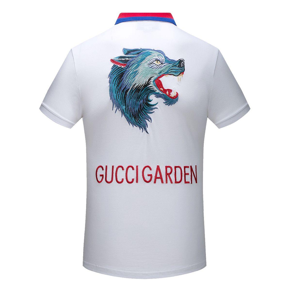 22f5772c10e1 Replica Gucci Polo Shirts With Wolf Head 2018 For Men Size M Xxxl Id