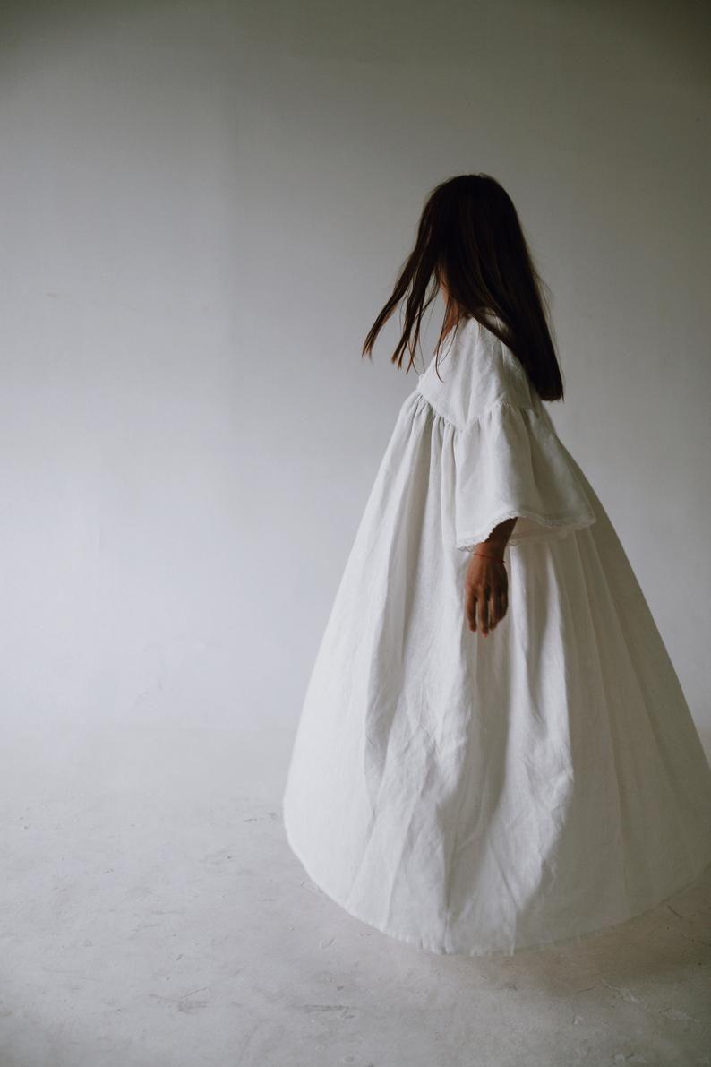 Empire-Stil-Kleid Brautkleid übergroße Kleid Boho Kleid mit  Etsy