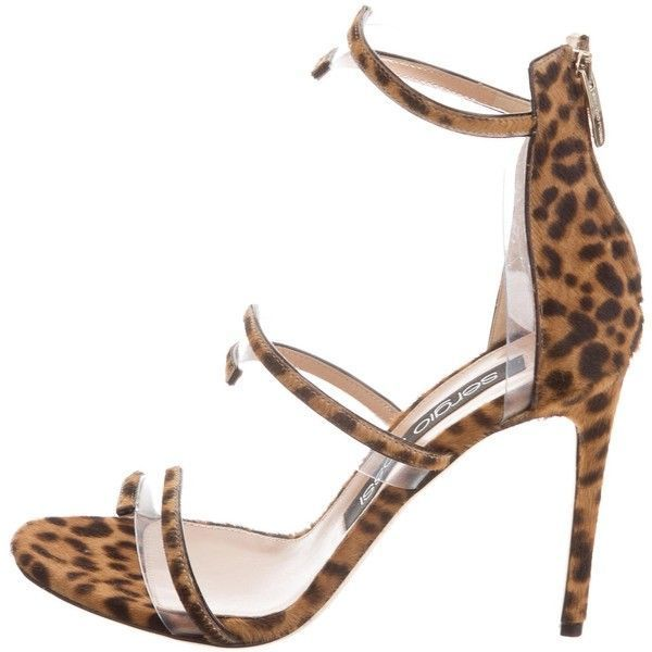 clearance low price Sergio Rossi Ponyhair & Leather Sandals 100% guaranteed cheap price buy cheap under $60 largest supplier cheap price sale store NpfK8wd