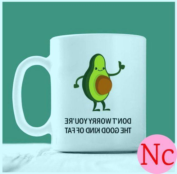 Avocado-Becher, keine Sorge, Sie sind die gute Art von Fett, Schwangerschaft Kaf…