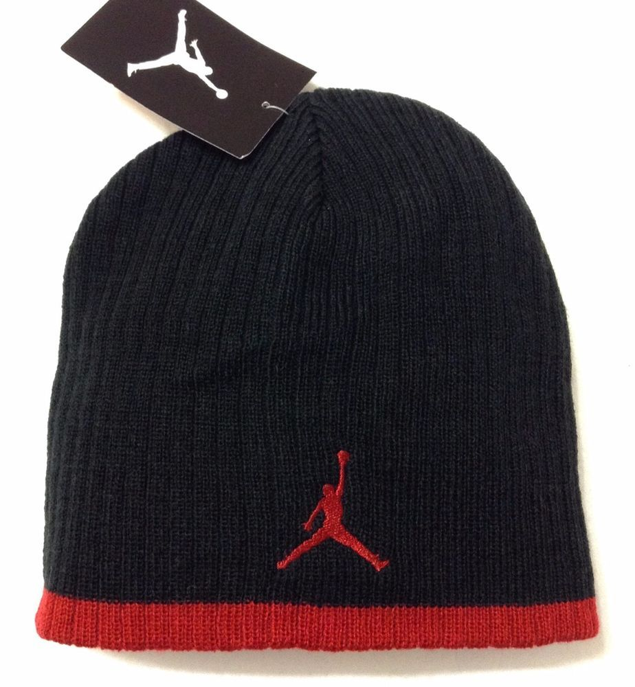 33769c26190 New 20 AIR JORDAN JUMPMAN BEANIE Black Red Winter Knit Hat Men Women Teen  OSFA  AirJordan  Beanie