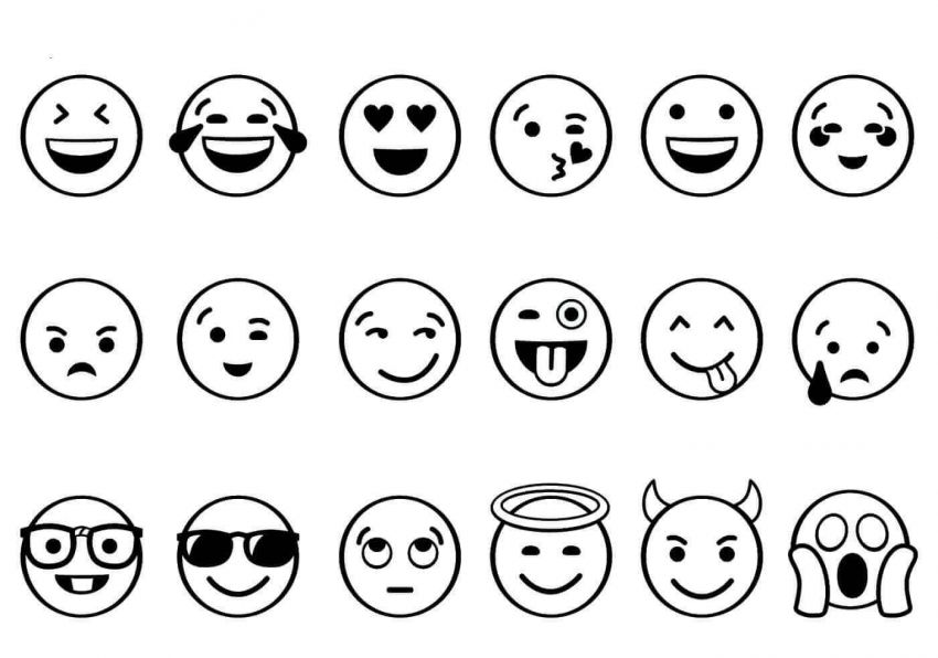 Free Printable Emoji Coloring Pages Mini Desenhos Emoji