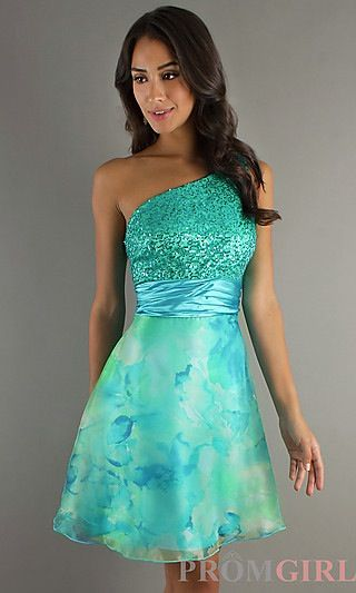 Turquoise short dress