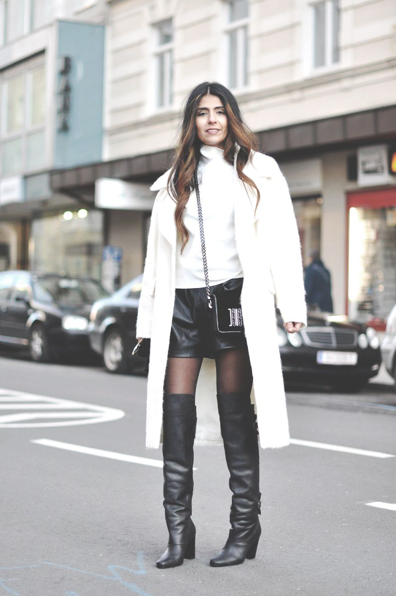 68986de7dab knee high boots street style - Google Search