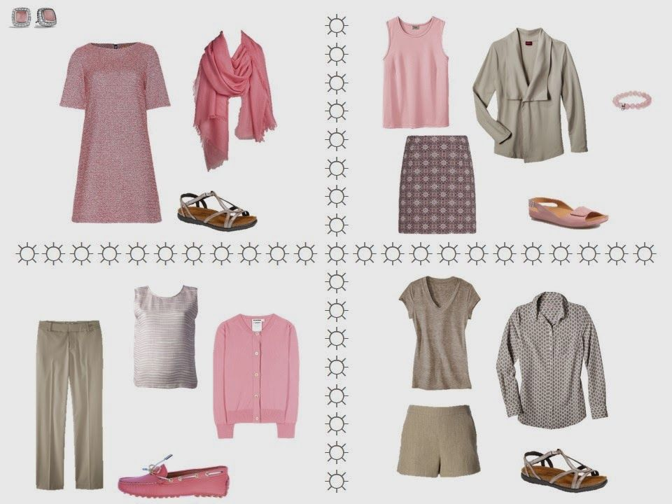 Warm Weather Travel capsule wardrobe in Brown and Pink - Step by Step | The Vivienne Files