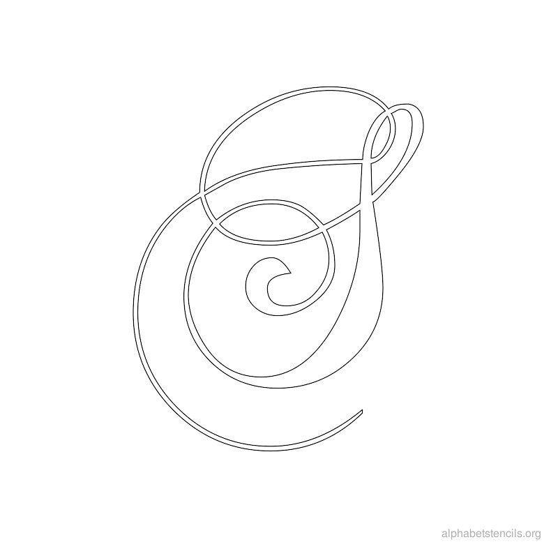 Print free alphabet stencils calligraphy s nápady do