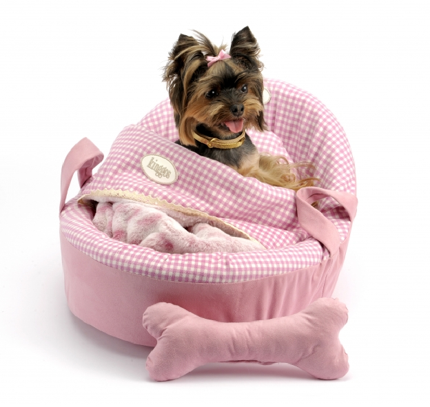Luxury Pink Moses Dog Bed Dog Bed Diva Dogs Pink Dog Beds