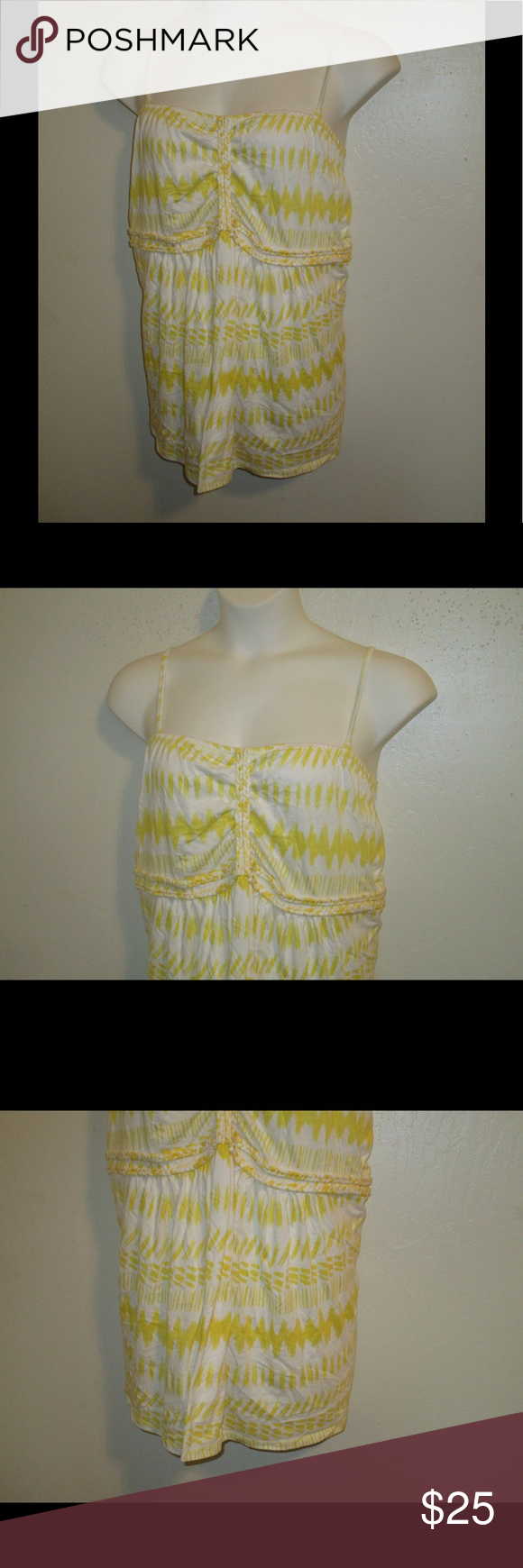 YELLOW WHITE TANK TOP BY LANE BRANT * 26/28 * BRAND NEW; YELLOW WHITE BRAID STRAP TANK TOP BY LANE BRYANT * 26/28 *. PLEASE FEEL FREE TO ASK ANY QUESTIONS YOU MAY HAVE AND I WILL REPLY WITHIN 48 HOURS. THE BEST DEALS ARE BUNDLED SO LOOK AROUND MY CLOSET AND HAPPY SHOPPING! Lane Bryant Tops Tank Tops