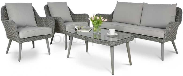 Zestaw Z Technorattanu Cassis Grey Furniture Outdoor Furniture Sets Outdoor Furniture