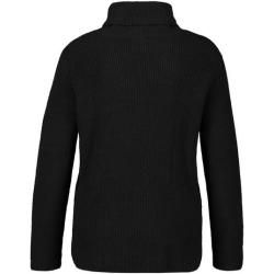 Photo of Lässiger Rollkragen-Pullover Schwarz Taifun