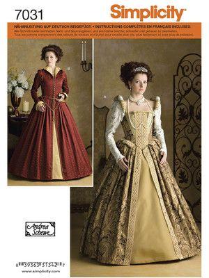3f4406b8b2c8c Simplicity 7031. Simplicity 7031 Historisches Kleid