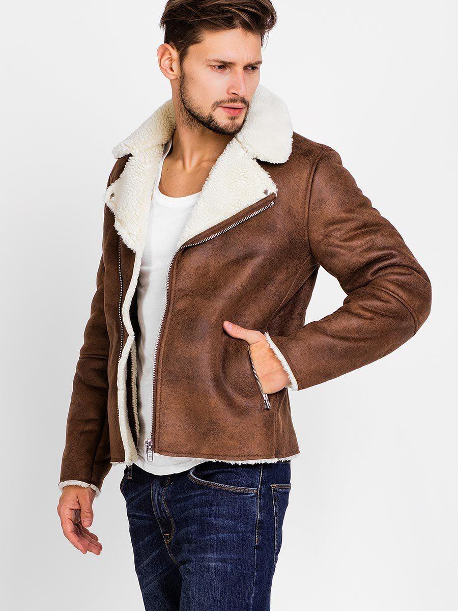 manteau homme parka col revers fourrure synth tique chaud hiver men s fashion pinterest. Black Bedroom Furniture Sets. Home Design Ideas